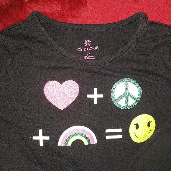 cdfee0f9 okie dokie Shirts & Tops | Size 6 Girls Equation Emoji | Poshmark